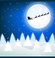 reindeer in harness with sleigh santa claus vector image vector image
