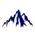 rock mountain logo icon design vector image vector image