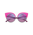 round sunglasses with pink metal frame and purple vector image