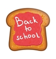School LunchToast with jam vector image vector image