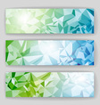 set banners with geometric background vector image