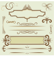 set monograms and borders vector image vector image