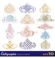 set of calligraphic design elements vector image vector image