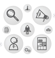 simple icons for web vector image vector image