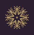 snowflake icon christmas and new year xmas vector image vector image