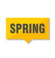 spring price tag vector image vector image
