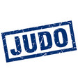 square grunge blue judo stamp vector image vector image