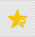 star icon minus icon vector image vector image