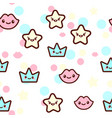 stars lips and crowns vector image vector image