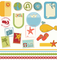summer holiday scrapbook set vector image