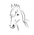 Symbol sketch outline head horse vector image vector image
