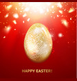 The Golden egg vector image vector image