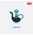 two color arabic jar icon from other concept vector image vector image