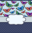 vintage frame with butterflies and text place vector image vector image