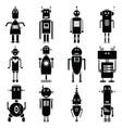 vintage robots vector image