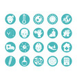 virus covid 19 pandemic respiratory illness icons vector image vector image