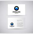 water gas pipeline logo vector image vector image