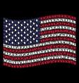 waving united states flag stylization of index vector image vector image