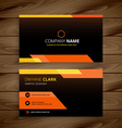 yellow black business card vector image vector image