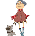 The girl and dog vector image