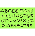 Capital letters alphabet in ink marker vector image