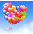 colorful heart shaped balloons vector image
