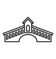 architecture bridge icon outline style vector image