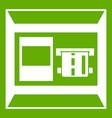atm icon green vector image vector image