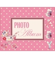 Baby photo album cover vector image vector image
