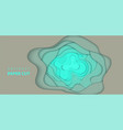 background with light turquoise color paper cut vector image vector image
