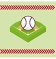baseball field ball vector image vector image