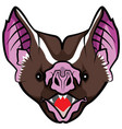 bat head vector image