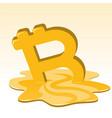 bitcoin price meltdown vector image vector image