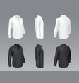 black and white classic shirts mockup vector image vector image