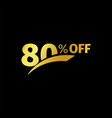 black banner discount purchase 80 percent sale vector image vector image