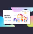 bringing home landing page supply large household vector image
