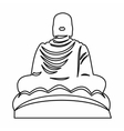 Buddha statue icon outline style vector image vector image
