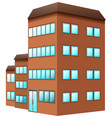 building painted in brown color vector image vector image