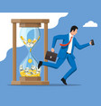 businessman and hourglass vector image
