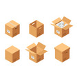 carton packaging boxes set isometric view closed vector image vector image