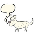 cartoon cute little dog with speech bubble vector image vector image