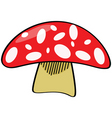cartoon mushroom vector image vector image