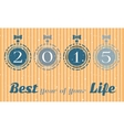 Christmas card - best year of your life vector image vector image