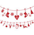 christmas stocking decoration vector image vector image
