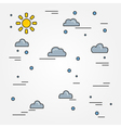 Clouds thin line designClouds pen IconClouds pen I vector image vector image