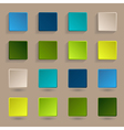 Colored flat cards with frame and shadow vector image vector image