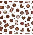 cute seamless pattern with hand drawn chocolate vector image