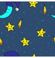 Doodle seamless night pattern background4 vector image vector image
