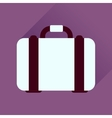 Flat icon with long shadow business case vector image vector image