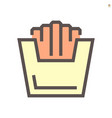 french fries icon design for food graphic design vector image vector image